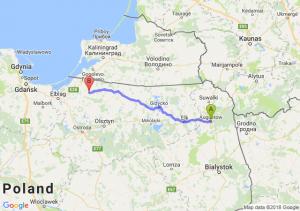 Trasa Augustów - Pieniężno
