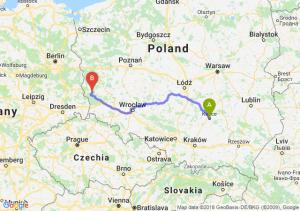 Trasa Kielce - Żary