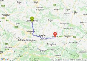 Trasa Częstochowa - Tarnów