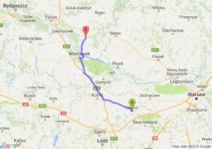 Trasa Łowicz - Lipno