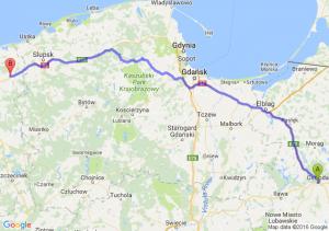 Ostróda (warmińsko-mazurskie) - Sławno (zachodniopomorskie)
