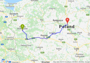 Trasa Gorzów Wielkopolski - Lubicz Dolny