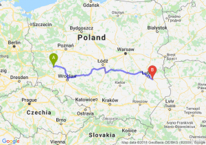 Trasa Głogów - Piaski