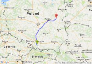 Trasa Andrychów - Sokołów Podlaski