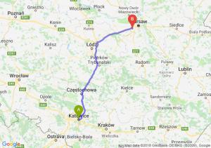 Trasa Katowice - Pruszków