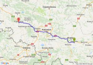 Trasa Wieliczka - Krapkowice
