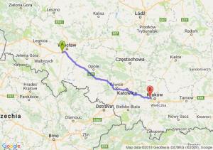 Trasa Biskupice Podgórne - Balice
