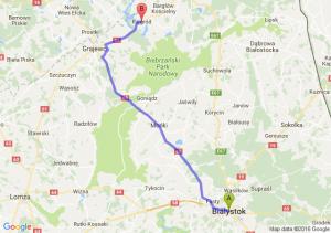 Białystok (podlaskie) - Rajgród (podlaskie)