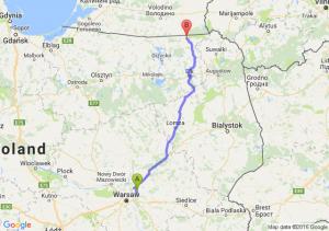 Wołomin (mazowieckie) - Gołdap (warmińsko-mazurskie)