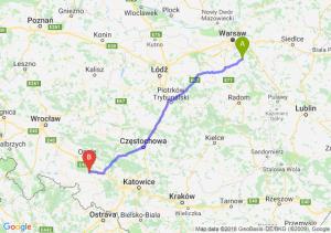 Trasa Góra Kalwaria - Krapkowice