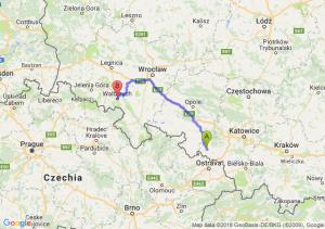 Trasa Racibórz - Wałbrzych
