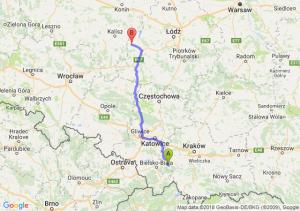 Trasa Andrychów - Błaszki