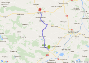 Trasa Łoniów - Opatów