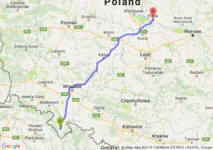 Trasa Bystrzyca Kłodzka - Płock