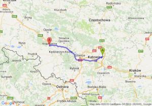 Trasa Dąbrowa Górnicza - Krapkowice