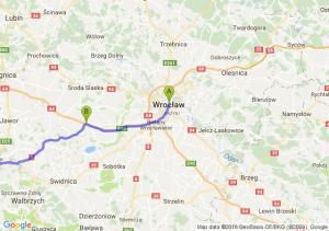 Wrocław (dolnośląskie) - Jaroszów (dolnośląskie) - Bolków (dolnośląskie)