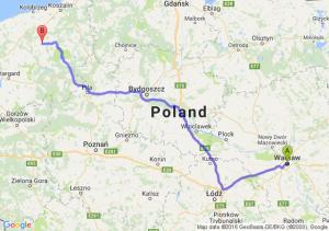 Warszawa (mazowieckie) - Świdwin (zachodniopomorskie)
