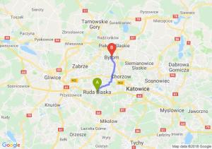 Trasa Ruda Śląska - Bytom