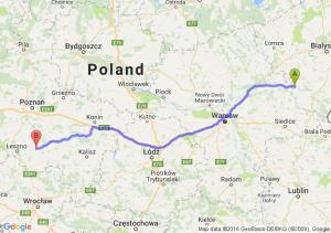 Ciechanowiec (podlaskie) - Gostyń (wielkopolskie)