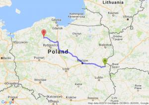 Trasa Biała Podlaska - Człuchów