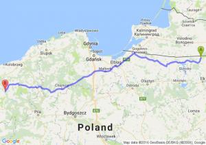 Gołdap (warmińsko-mazurskie) - Łobez (zachodniopomorskie)