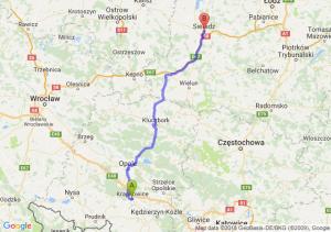 Trasa Krapkowice - Sieradz