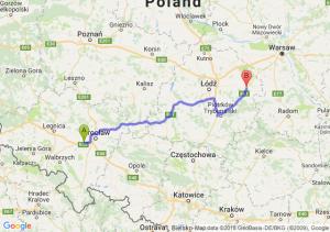 Trasa Kąty Wrocławskie - Rawa Mazowiecka