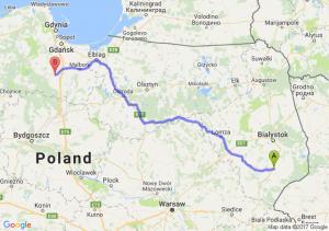 Bielsk Podlaski - Starogard Gdański