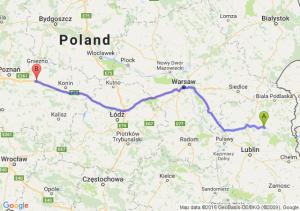 Parczew (lubelskie) - Września (wielkopolskie)