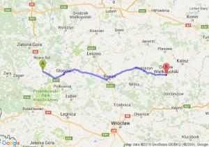 Nowe Miasteczko (lubuskie) - Ostrów Wielkopolski (wielkopolskie)