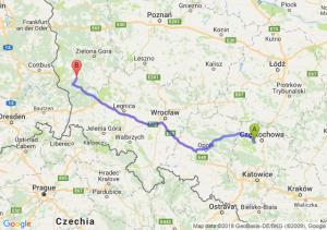 Trasa Blachownia - Żary