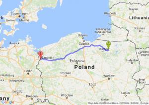 Trasa Biskupiec - Radziszewo
