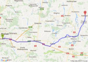 Luboń (wielkopolskie) - Radziejów (kujawsko-pomorskie)
