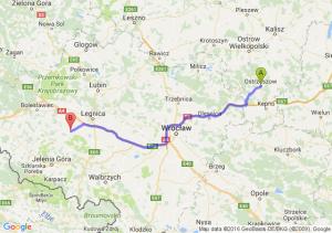 Ostrzeszów (wielkopolskie) - Złotoryja (dolnośląskie)
