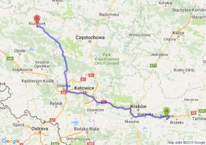 Bochnia (małopolskie) - Kluczbork (opolskie)