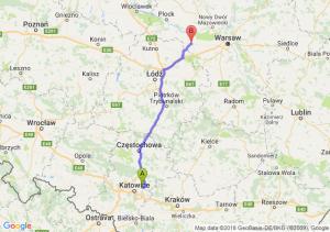 Trasa Dąbrowa Górnicza - Sochaczew