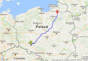Trasa Biskupice Podgórne - Robawy