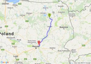 Biała Piska (warmińsko-mazurskie) - Wołomin (mazowieckie)