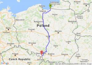 Braniewo (warmińsko-mazurskie) - Radlin (śląskie)