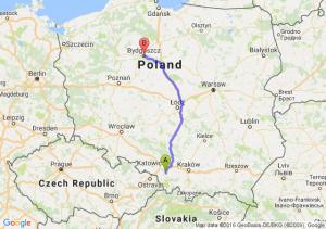 Pszczyna (śląskie) - Bydgoszcz (kujawsko-pomorskie)