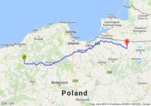 Barwice (zachodniopomorskie) - Korsze (warmińsko-mazurskie)