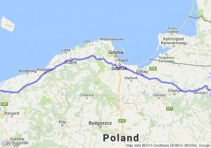 Międzyzdroje (zachodniopomorskie) - Orzysz (warmińsko-mazurskie)