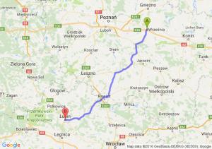 Września (wielkopolskie) - Lubin (dolnośląskie)