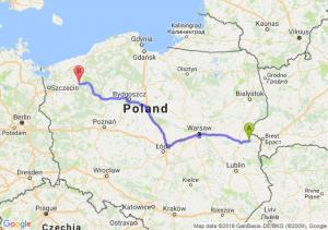 Trasa Biała Podlaska - Drawsko Pomorskie