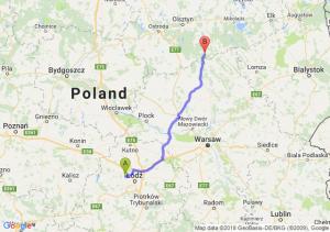 Trasa Aleksandrów Łódzki - Wielbark
