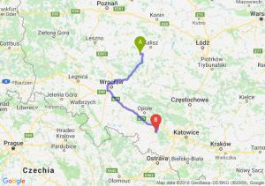Trasa Ostrów Wielkopolski - Kędzierzyn-Koźle