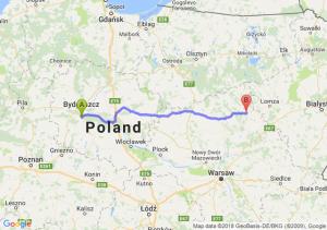 Trasa Brzoza (koło Bydgoszczy) - Ostrołęka