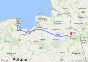 Trasa Gdynia - Raczki