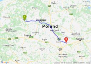 Trasa Piła - Łowicz