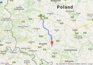 Luboń (wielkopolskie) - Namysłów (opolskie)